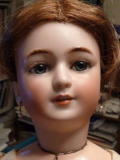 """23.5"""" Simon & Halbig 1159 lady doll with Jumeau label on the back of body."""