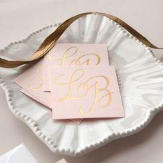 Metallic Gold Foil Letterpress