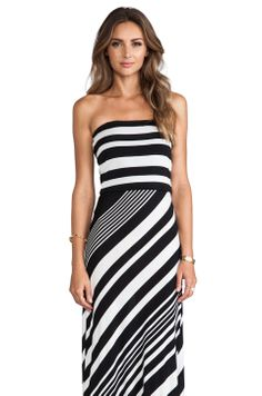 MM Couture by Miss Me Striped Strapless Maxi Dress in Black & White from REVOLVEclothing