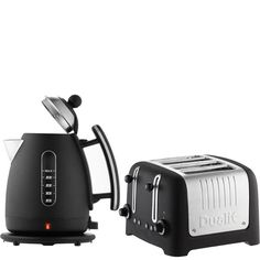 Dualit Jug Kettle and 4 Slot Toaster - Dualit is a great brand and this set goes with the black and silver colour scheme