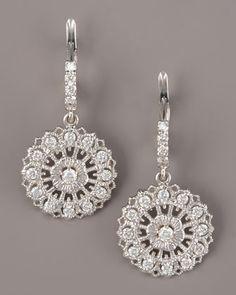 Lace Drop Diamond Earrings by Penny Preville