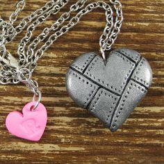 polymer clay charm- heart