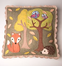Autumn Woodland Friends Cushion Cover