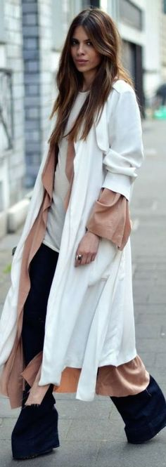 Maja W Y H White On Camel Long Layers Fall Inspo by Sabo Skirt