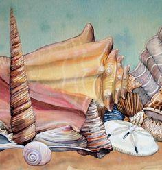 Seashells Original Painting/Ocean Architecture  $500.00