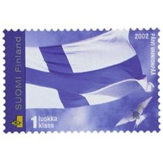 Postimerkki: Suomen lippu | Suomen postimerkit Stamps, Paper, Outdoor Decor, Seals, Postage Stamps, Stamp
