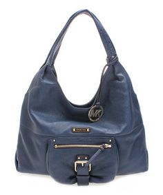 Love this MICHAEL Michael Kors Navy Austin Leather Shoulder Bag by MICHAEL Michael Kors on #zulily! #zulilyfinds