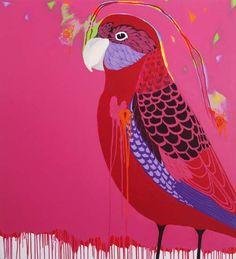 Crimson Rosella  Anthea Polson Art Gallery 17/10/2013