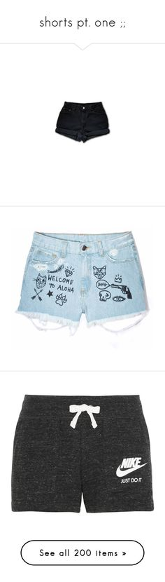"""""""shorts pt. one ;;"""" by acesbabe ❤ liked on Polyvore featuring shorts, bottoms, pants, vintage shorts, high waisted cuffed shorts, cut-off shorts, vintage high waisted shorts, hipster high waisted shorts, summer shorts and cotton shorts"""