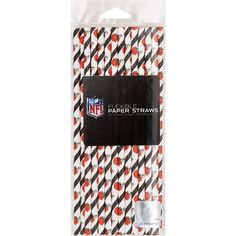 Creative Cleveland Browns Paper Straws, Case of 144