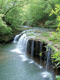 Princess Falls, Daniel Boone National Forest, KY - photo by Barb Richardson #kentucky #hiking #waterfalls