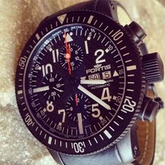 The Fortis B42 Black Titanium cosmonaut chronograph has been getting a lot of attention #watches