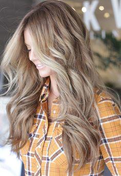 DKW Styling. Dark blonde, light brown, bronde hair.