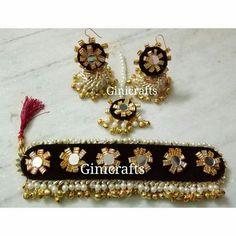 Gota Jewellery Spotted Online for Feather Jewelry, Tassel Jewelry, Fabric Jewelry, Wedding Jewelry, Textile Jewelry, Gota Patti Jewellery, Thread Jewellery, Diy Jewellery, Jewelry Crafts