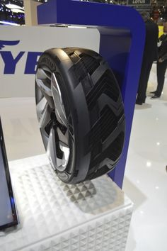 Goodyear BHO3 concept tire generates electricity By David Szondy 3/17/15 The BHO3 on display in Geneva (Photo: C.C. Weiss/Gizmag.com)