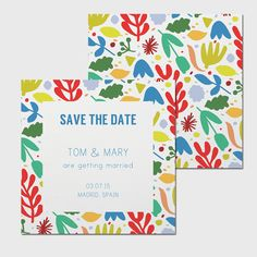 Printable Save the Date Card - The Mary's Garden Suite