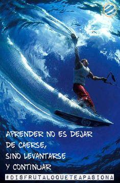 Aprender no es dejar de caerse, sino levantarse y continuar #disfrutaloqueteapasiona   #wakeboard