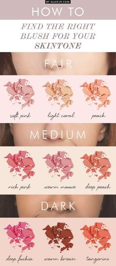 Find The Right Blush For Your Skintone - 13 Best Makeup Tutorials and Infographics for Beginners