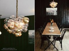 Cloud Bubble Chandelier - dipped in gold The Lighting Factory