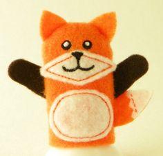 Fox Finger Puppet by ImogenesTeaGarden on Etsy, $3.00