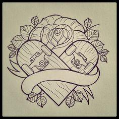 Flash!  #flash #tattoo #tatuaje #ink #heart #corazon #skate #gastattoos #gastón
