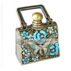 Unique Butterfly flower Antique Perfume Bottle