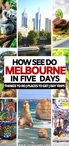 Top tips for planning the perfect 5 days Melbourne itinerary. With tips on day trips to Great Ocean Road, Yarra Valley, Philip Island plus all the cool things to do in Melbourne. From St Kilda Beach, Brighton Beach Bathing Boxes, Shopping in Melbourne, Places To Eat In Melbourne and more! The perfect guide to planning a trip to Australias Melbourne. #traveltips #itinerary #wheretostay #activities