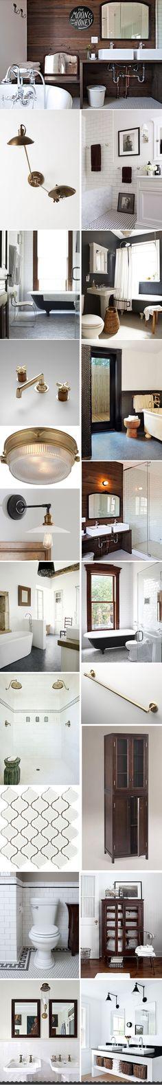The Moon U0026 The Honey Wood U0026 White Vintage Modern Bathroom