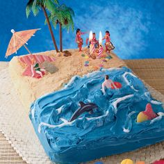 beach/ water party cake