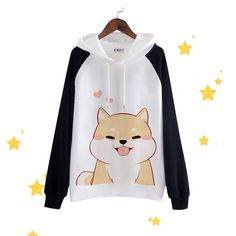 Cheap clothes box, Buy Quality hoodie boy directly from China hoodie fleece Suppliers: Japanese Doge Kawaii Muco Sweatshirts Pullovers Harajuku Coat Clothes Cute Women Hoodies Harajuku Fashion, Kawaii Fashion, Cute Fashion, Fashion Black, Fashion Clothes, Street Fashion, Estilo Harajuku, Dog Hoodie, Cute Hoodie