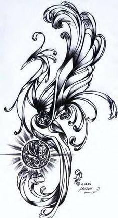 phoenix tattoo | phönix phoenix tattoo motive tattoovorlagen