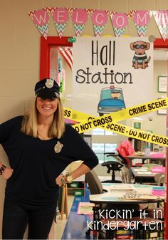 Adorable Punctuation Police Lesson from Kickin It In Kindergarten!!!