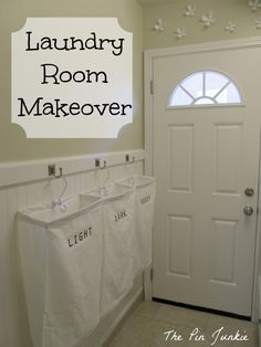 *Laundry Room Makeover (from The Pin Junkie)