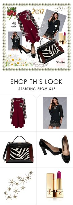 """""""Rose gal  16"""" by fatimazbanic ❤ liked on Polyvore featuring Mulberry, Miu Miu, Global Views and Yves Saint Laurent"""