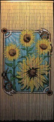 Sunflower Door Curtain ~ Gateways 100% Bamboo Beaded Door Curtains ~ 90 Strands! by Penny Lane. $40.00. * 90 Strand. * Each Curtain is Hand Painted. * Our bamboo beaded curtains are approx. 36 inches wide X 71-1/2 inches tall.. * Ideal as doorways, room dividers, wall decorations, or window treatments!. * Our bamboo beaded curtains are approx. 36 inches wide X 71-1/2 inches tall.  * Ideal as doorways, room dividers, wall decorations, or window treatments!  * Each Curtain is Hand...