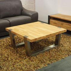 Table Basse Design Carre Chne Massif