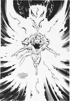 "johnbyrnedraws: ""Phoenix commission by John Byrne. 2014. """