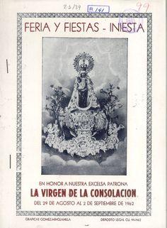 Fiestas en Iniesta (Cuenca) en honor a la Virgen de la Consolación del 29 de agosto al 2 de septiembre de 1962 Toros, verbenas y actuaciones deportivas #Fiestaspopulares #Iniesta #Cuenca