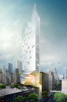 Proposal for New York Skyscraper Cantilevers Lobby Over Its Neighbors