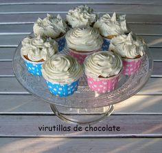 virutillas de chocolate: cup cakes de limon