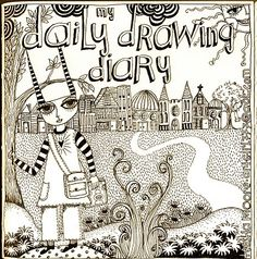 daily drawing journal, by Teesha Moore #drawing