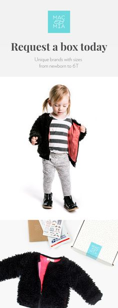 Cute boys and girls clothes delivered to your door. Styles for your child, toddler, or baby with sizes from newborn to 6T. Better yet, shipping is free both ways and you only pay for what you keep!