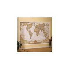 Environmental graphics giant world map wall mural dry erase national geographic executive world map wall mural gumiabroncs Choice Image