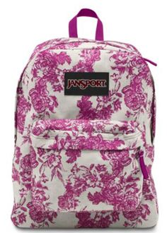 Great Vintage Floral pattern on a classic backpack