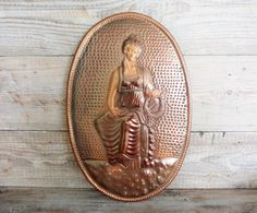 Vintage Copper Wall Decor 20' x 13'' Handmade by GuestFromThePast