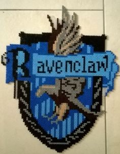 Ravenclaw Crest - Harry Potter perler beads by Perlerwonders