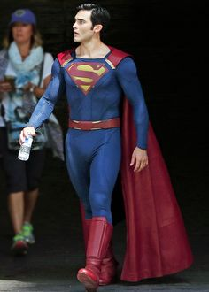 Tyler Hoechlin as Superman on the set of Supergirl on July 29th, 2016.