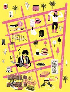 Caracas Map for Computer Arts Magazine - Daniel Gray