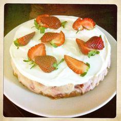 Strawberries cheesecake! By Marika