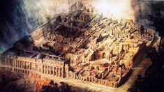 Bank of England by John Soane, drawing by Joseph Gandy